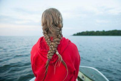 Photo: A teenage girl on Leech Lake, Walker, MN.