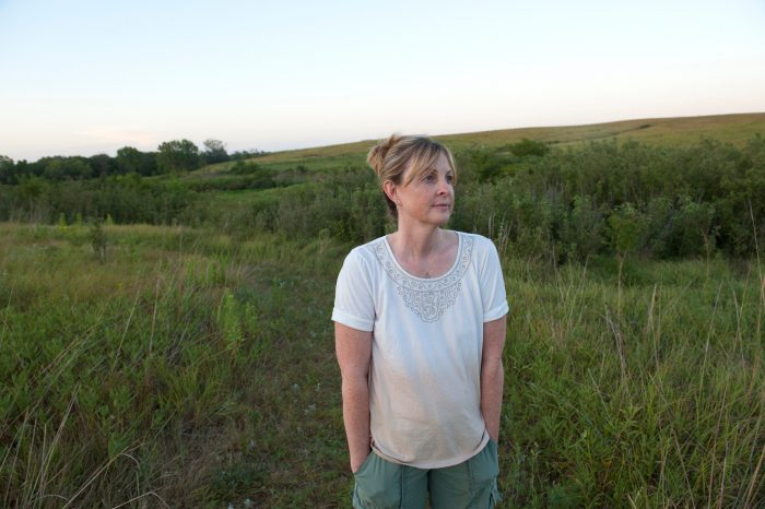 Photo: Kathy Sartore at Spring Creek Prairie near Denton, NE.