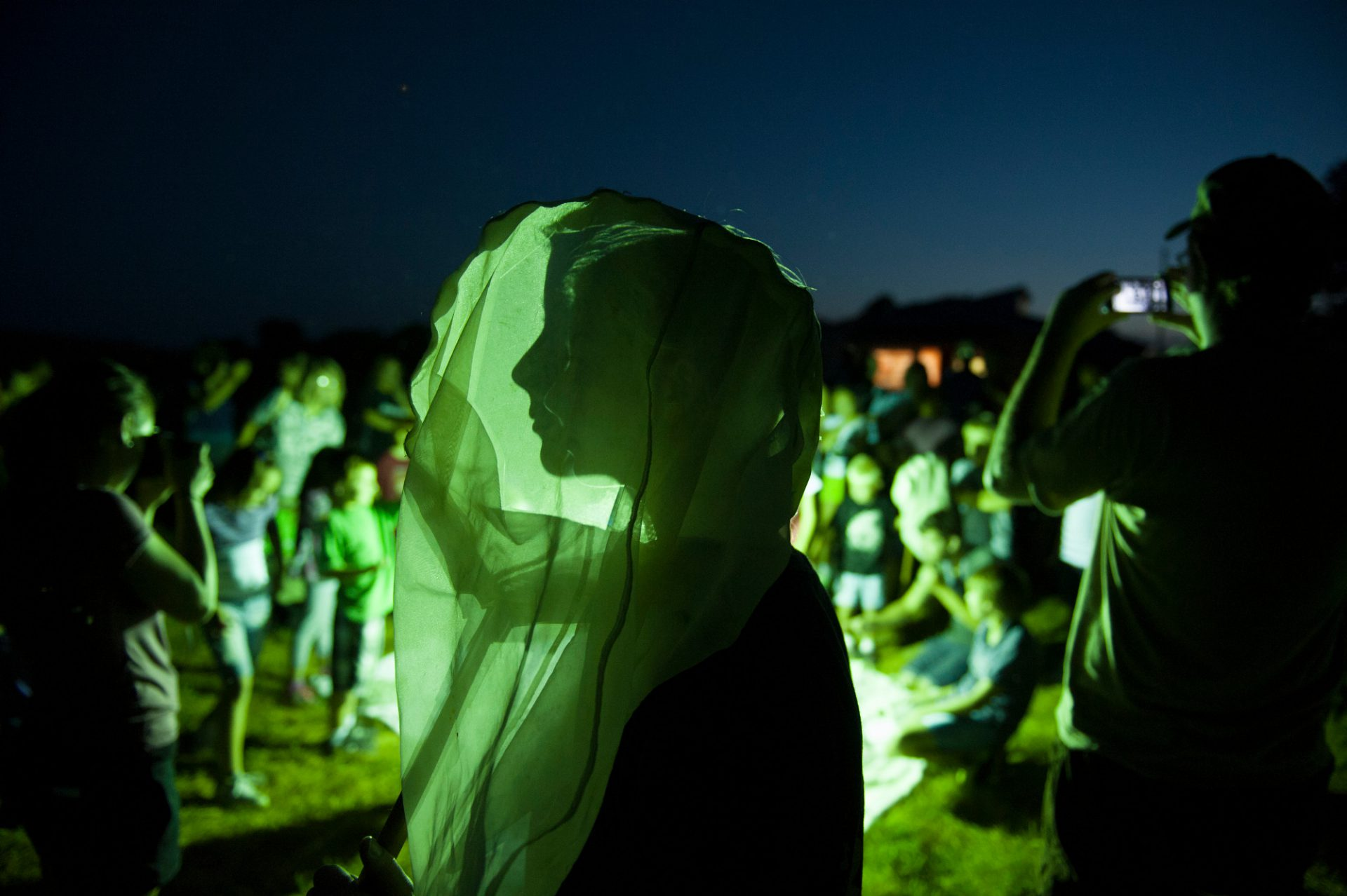 "Photo: ""Moth Night"" at Spring Creek Prairie near Denton, NE."