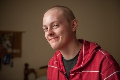 Photo: Effects of chemo on a 18 year old boy, Lincoln, Nebraska.
