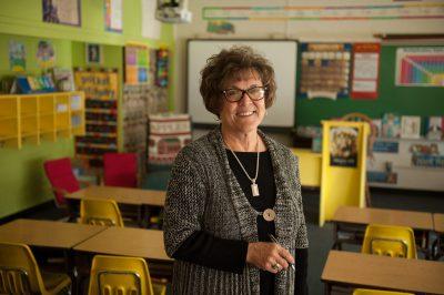 Photo: A portrait of a teacher in Lincoln, Nebraska.