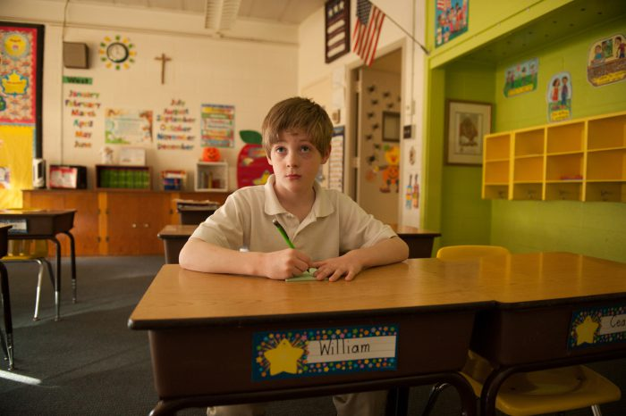 Photo: A young boy in his classroom, Lincoln, Nebraska.