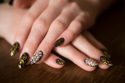 Photo: The fingernails of a teenage girl.