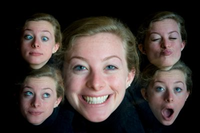 Photo: Multiple exposures of a teenage girl.