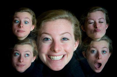 Photo: Multiple exposures of a teenage girl.