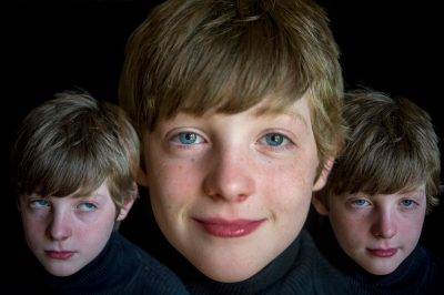 Photo: Multiple exposures of an elementary age boy.