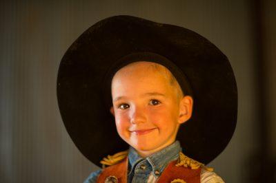 Photo: A portrait of an elementary aged boy.