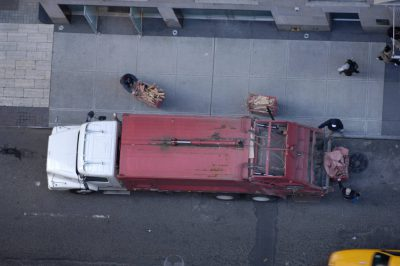 Photo: A recycling truck on the streets of New York City.
