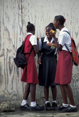 Photo: School children St. Lucia in the Caribbean.