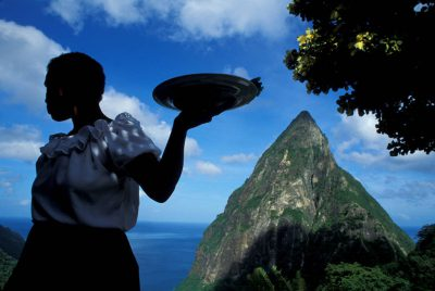 Photo: Ladera resort in St. Lucia in the Caribbean.