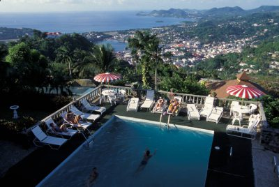 Photo: Green Parrot resort in St. Lucia in the Caribbean.