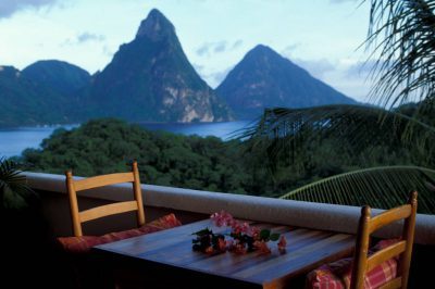 Photo: Anse Chastenet resort in St. Lucia in the Caribbean.