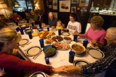 Photo: Thanksgiving at the DeVries house in Lincoln, Nebraska.