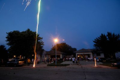 Photo: Fireworks in the sky on July 4th eve in Lincoln.