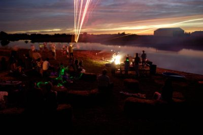 Photo: The July 4th celebration at the Fenton Farm near Greenleaf, KS.