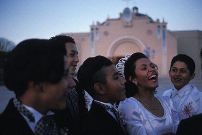 Photo: An hispanic Quinceanera celebration in El Paso, Texas.