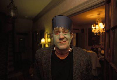Photo: A man celebrates Halloween in Lincoln, Nebraska.
