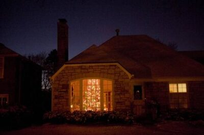 Photo: A home decorated for the Christmas holiday in Lincoln, NE.