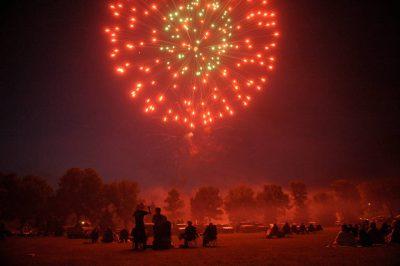 Photo: Fireworks show in Morton, MN.