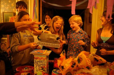 Photo: A five year-old boy at his birthday party.