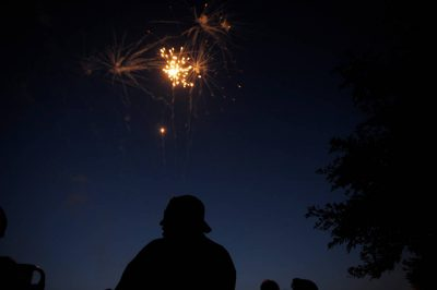 Photo: Fireworks over north Lincoln on the third of July.