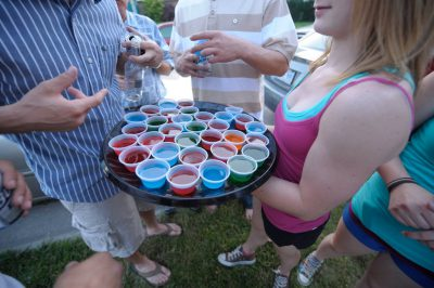 Photo: Jello shots being served at a party in Lincoln on the third of July.