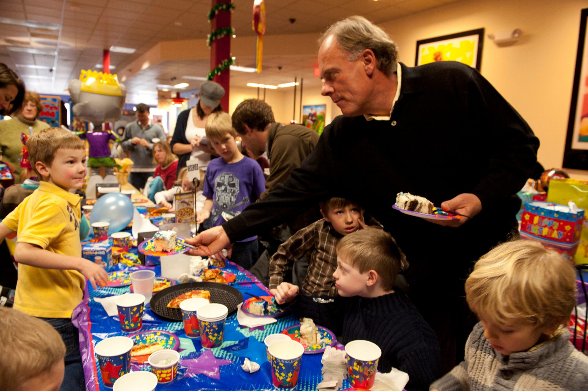 Photo: A birthday party at Chuck E. Cheese's in Lincoln, Nebraska.