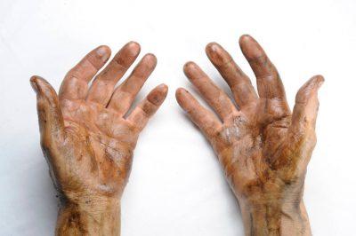 Photo: The greasy hands of a Nebraska farmer.