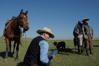Photo: Cowboys at the C-Diamond Ranch near Fort Pierre, South Dakota.
