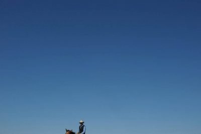 Photo: A cowboy at the C-Diamond Ranch near Fort Pierre, South Dakota.