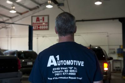 Photo: A mechanic at an auto shop.