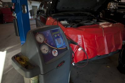 Photo: Tools at an auto shop.