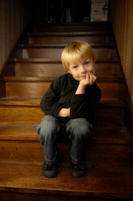 Photo: A 5-year-old boy at his home in Lincoln, NE.