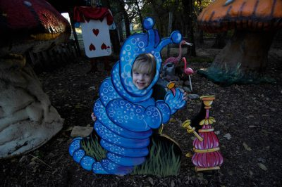 Photo: A 4-year-old boy plays at a pumpkin patch near Roca, NE.