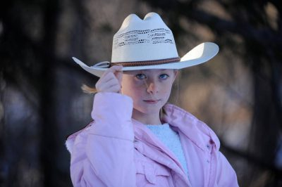 Photo: An 11-year-old cowgirl.