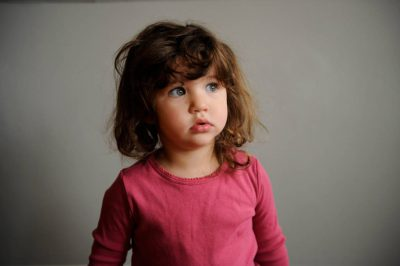 Photo: Portrait of a young girl.