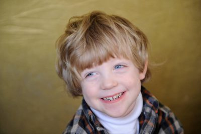Photo: Portrait of a 4-year-old boy.