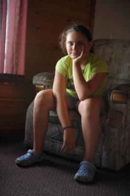 Photo: Portrait of a girl, taken near Walker, MN.