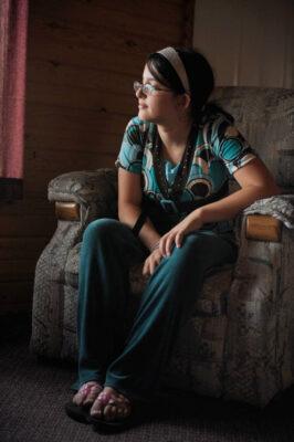 Photo: Portrait of a girl, taken near Walker MN.