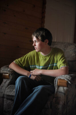 Photo: A teenage boy, photographed at Walker, MN.
