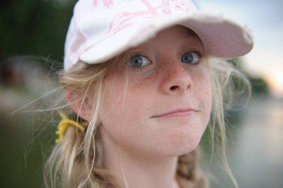 Photo: A girl at Leech Lake near Walker, MN.