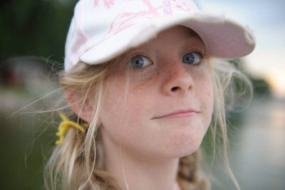 Photo: A girl at Leech Lake near Walker, MN.