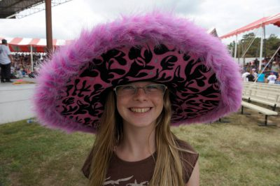 Photo: A large hat for a young girl attending the Kansas State Fair.