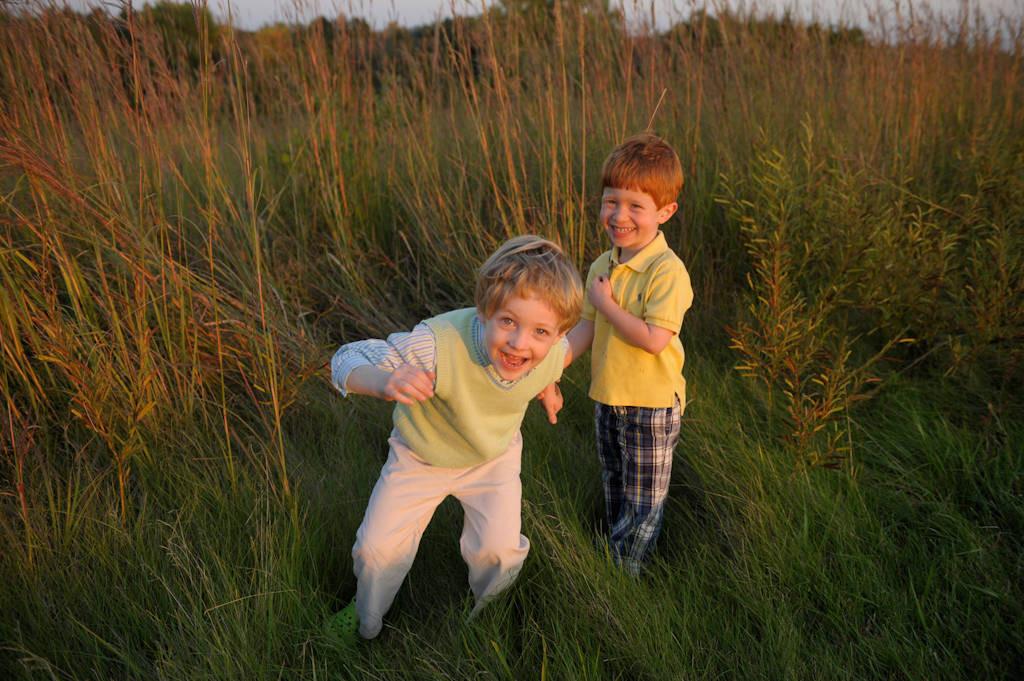 Photo: Two boys at Mahoney State Park in Nebraska.