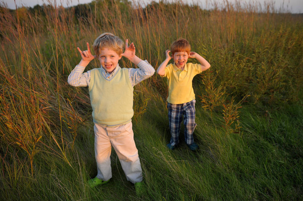 Photo: Two boys at Mahoney State Park in Nebraska.
