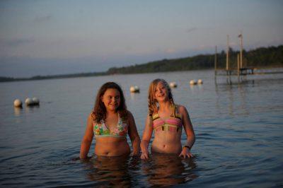 Photo: Swimming in Leech Lake near Walker, Minnesota.