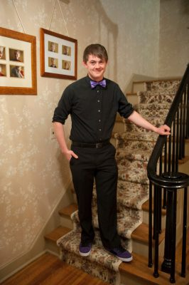 Photo: A teenage boy dressed for a high school dance in Lincoln, Nebraska.