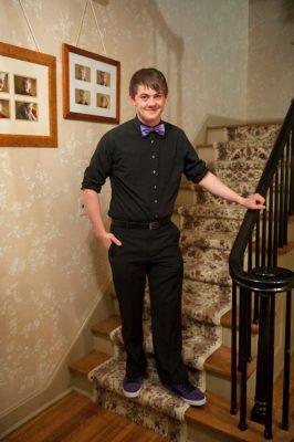 Photo: A teenage boy dressed for a high school dance in Lincoln, Nebraska.