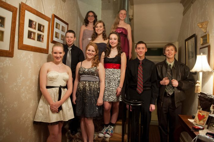 Photo: A group of teenagers dressed for a high school dance in Lincoln, Nebraska.