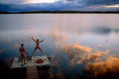 Photo: Skinny dipping in Toolik Lake.